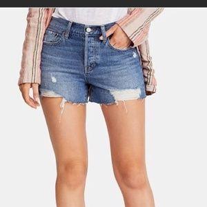 Free People Sofia Distressed Shorts Sz 27